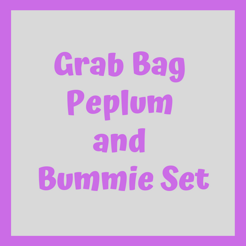 Grab Bag Peplum and Bummie SET