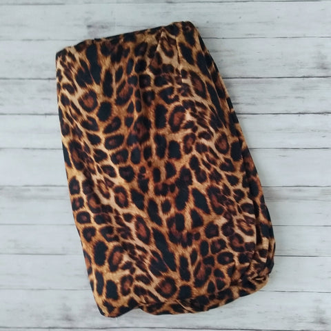 Tan/Black Leopard, Silky Soft