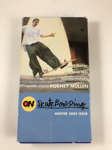 On Skateboarding Winter 2002 VHS Tape