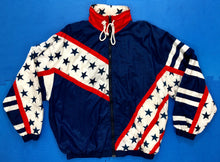 Vintage Stars & Stripes Flag Windbreaker