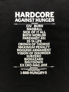 Vintage Hardcore Against Hunger Festival T-Shirt