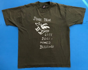 "Vintage John Prine ""Lost Dogs and Mixed Blessings"" T-Shirt"