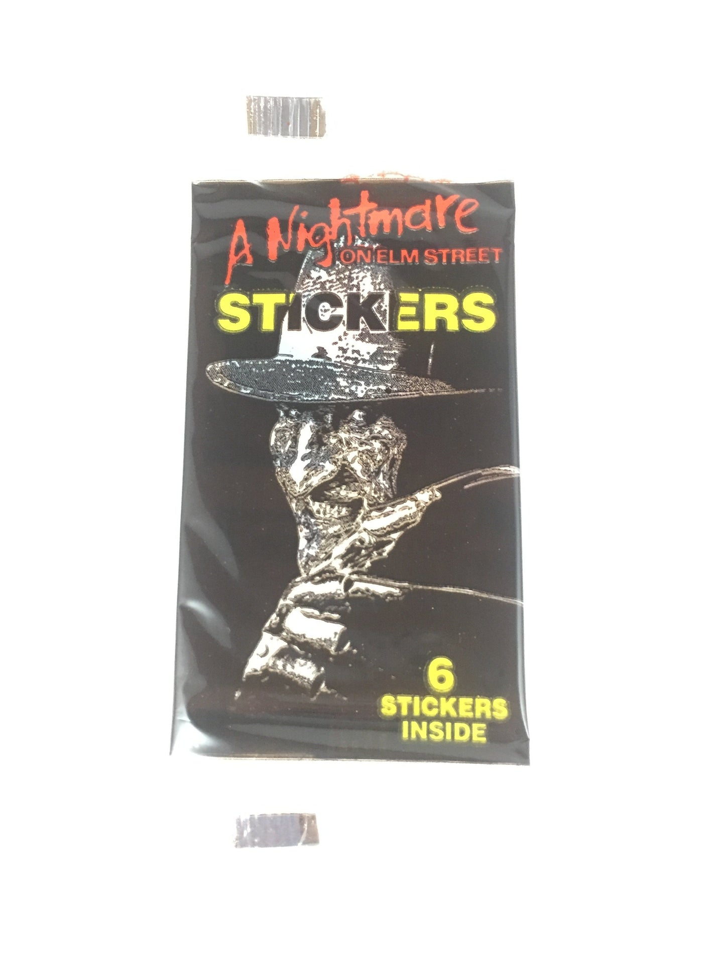 a nightmare on elm street stickers, vintage sticker pack