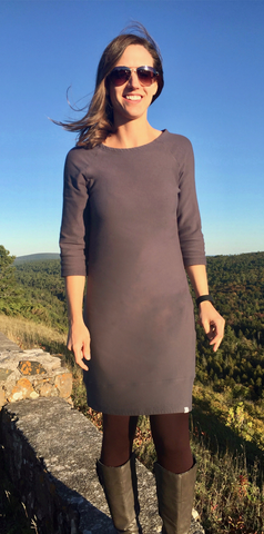 Linnea Tunic Dress (crew neck with 3/4 sleeves)
