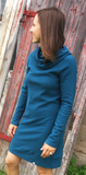 Linnea Tunic Dress (cowl neck with long sleeves)