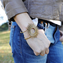 Load image into Gallery viewer, Radiant Sun Cuff Bracelet