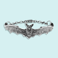Load image into Gallery viewer, Silver Bat Bracelet