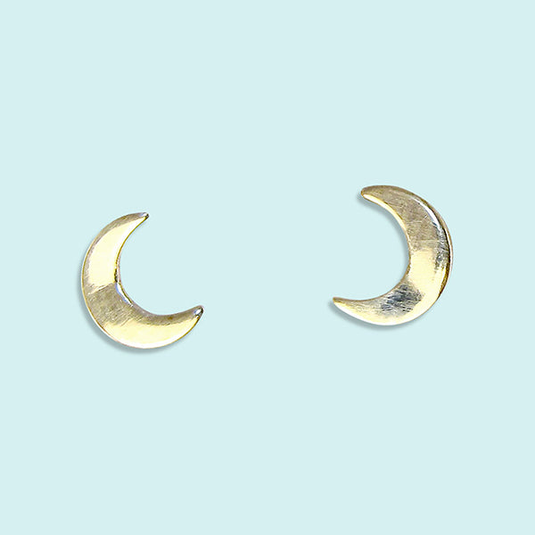 Tiny Moon Stud Earrings
