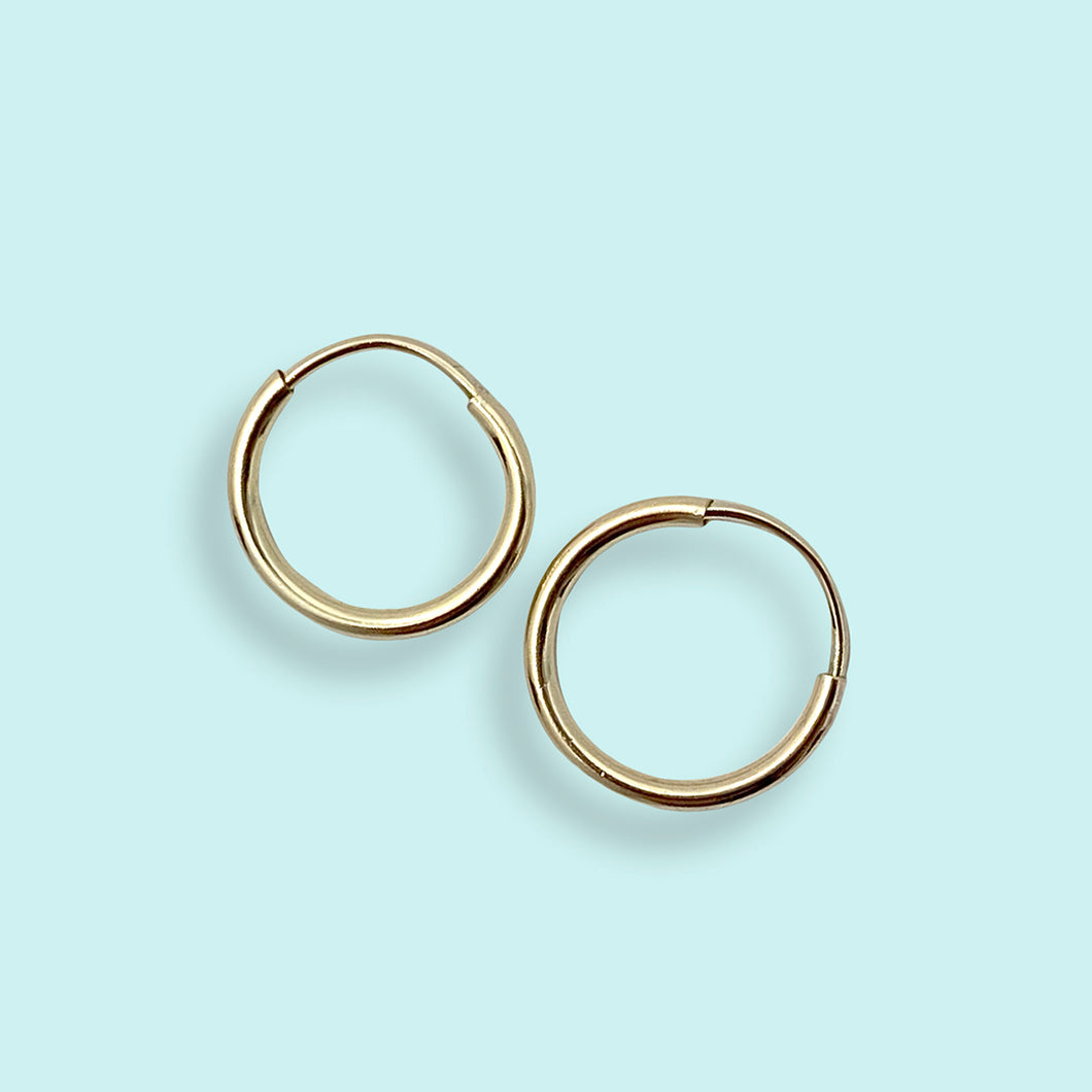 Tiny Gold Filled Hoop Earrings