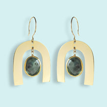 Load image into Gallery viewer, Emerald Arc Earrings