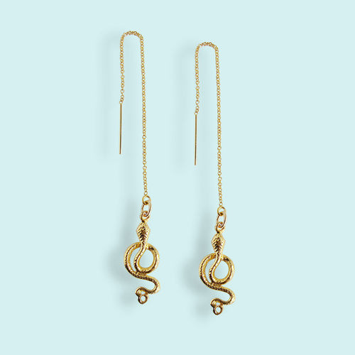 Snake Ear Threader Earrings