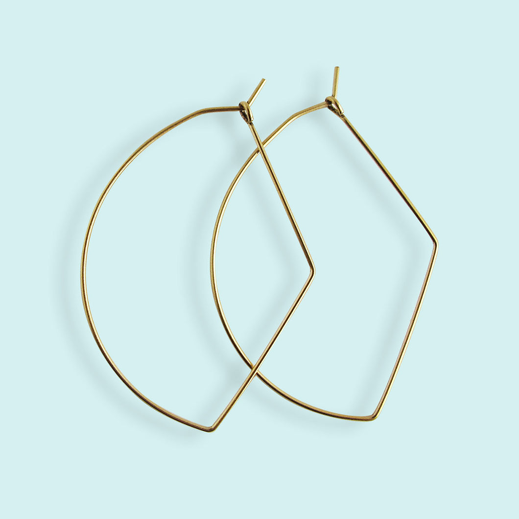 Bow Hoop Earrings