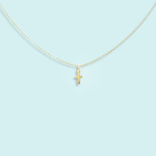 Load image into Gallery viewer, Tiny Cross Necklace