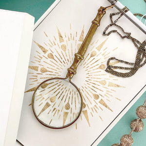Ornate Magnifying Glass Necklace