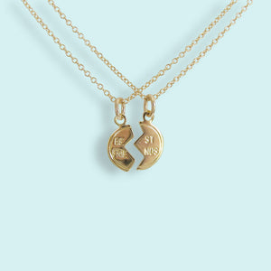 Gold Best Friend Necklace Set