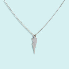 Load image into Gallery viewer, Silver Lightning Bolt Necklace
