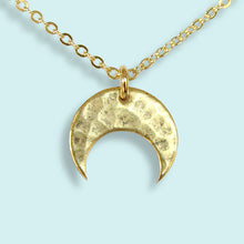 Load image into Gallery viewer, Hammered Moon Necklace