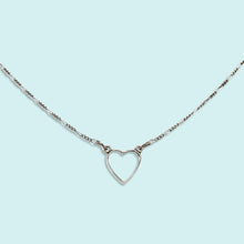 Load image into Gallery viewer, Little Silver Heart Necklace