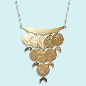 Moon Phase Cascade Necklace
