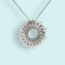 Load image into Gallery viewer, Sterling Silver Small Radiant Sun Necklace