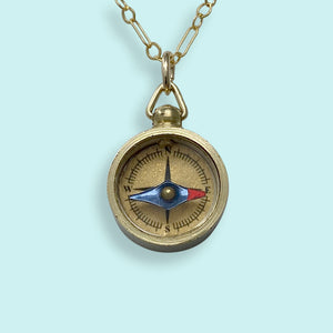 Tiny Compass Necklace