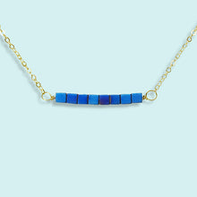 Load image into Gallery viewer, Blue Peacock Bead Necklace
