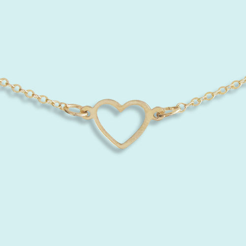 Tiny Open Heart Necklace