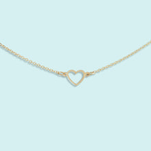 Load image into Gallery viewer, Tiny Open Heart Necklace