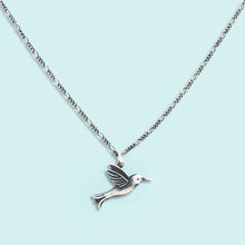 Load image into Gallery viewer, Silver Hummingbird Necklace