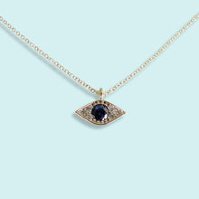 Load image into Gallery viewer, Blue Crystal Evil Eye Necklace