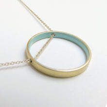Load image into Gallery viewer, Small Blue Circle Necklace