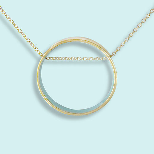 Small Blue Circle Necklace
