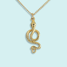 Load image into Gallery viewer, Gold Snake Necklace