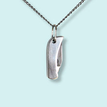 Load image into Gallery viewer, Silver Knife Necklace