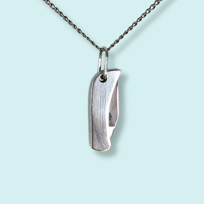 Silver Knife Necklace