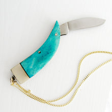 Load image into Gallery viewer, Turquoise Claw Knife Necklace