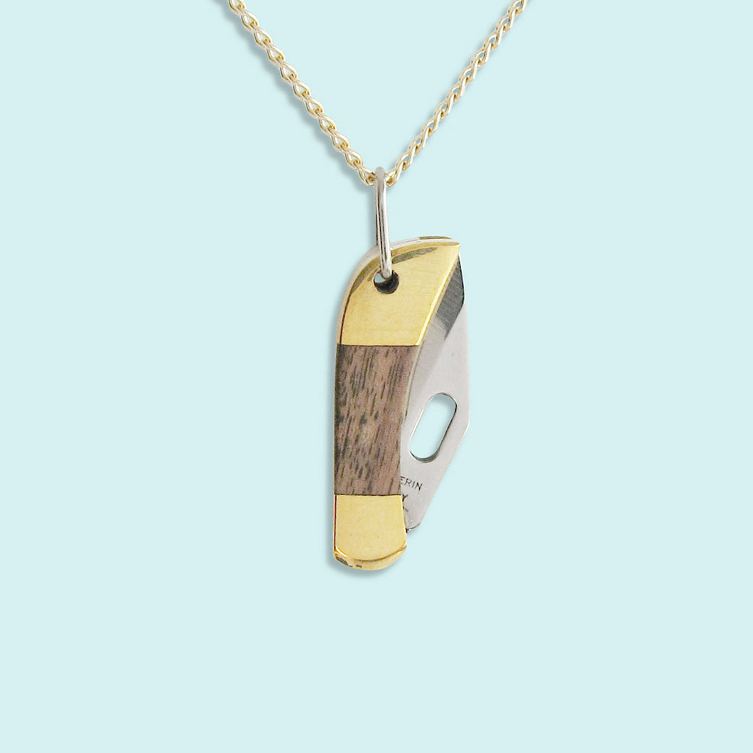 Tiny Wood Knife Necklace