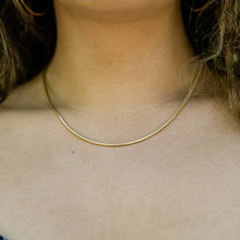 Load image into Gallery viewer, Gold Snake Chain Necklace