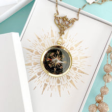 Load image into Gallery viewer, Ornate Compass Necklace
