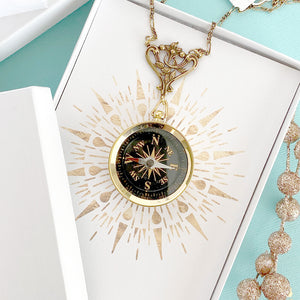 Ornate Compass Necklace