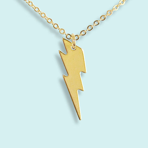 Gold Plated Lightning Bolt Necklace