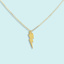 Load image into Gallery viewer, Gold Lightning Bolt Necklace