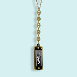 Black Harmonica Necklace