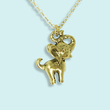 Load image into Gallery viewer, Gold Elephant Necklace