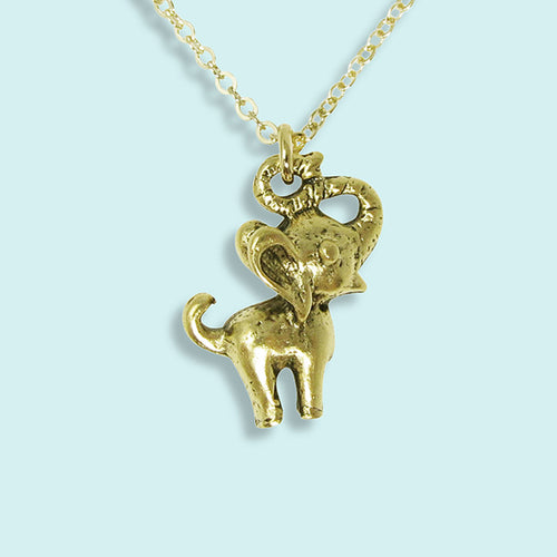 Gold Elephant Necklace