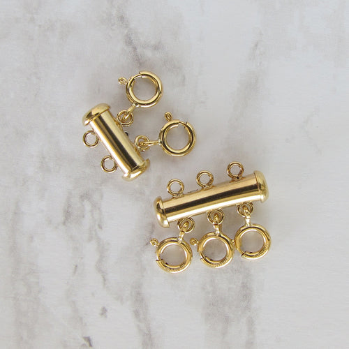 Gold Filled Layering Detangler Clasp