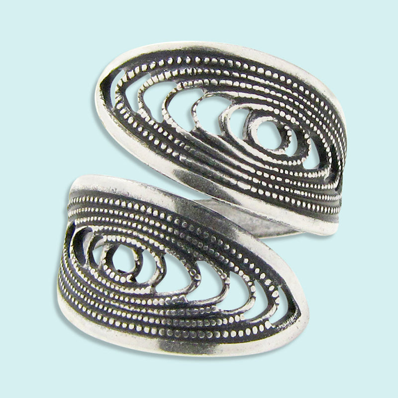 Silver Filigree Swirl Ring