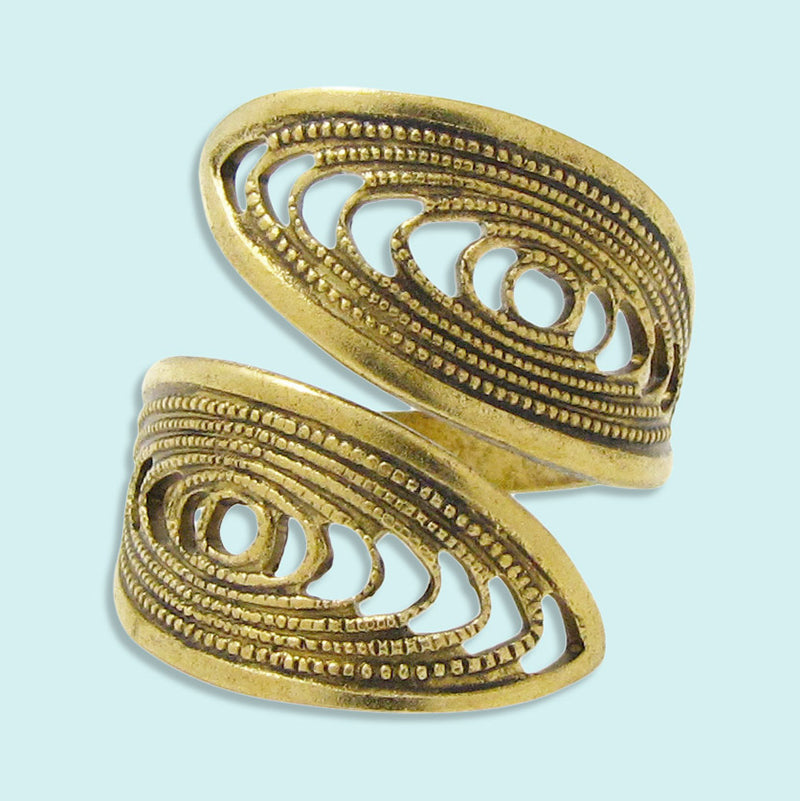 Gold Filigree Swirl Ring