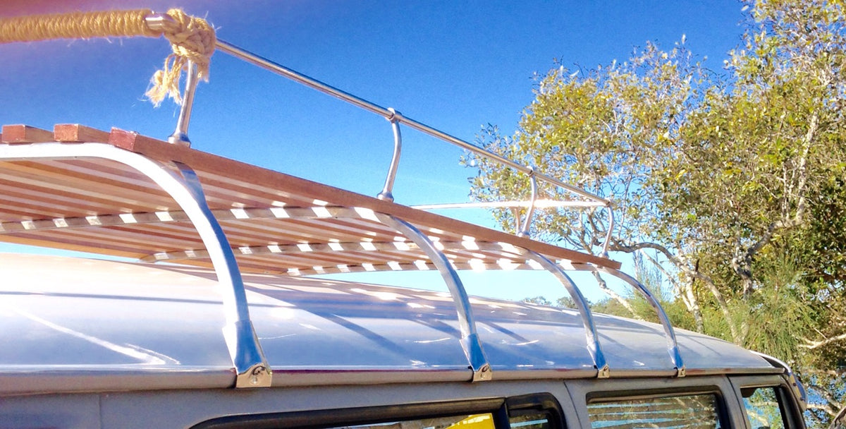 stainless steel and timber roof racks