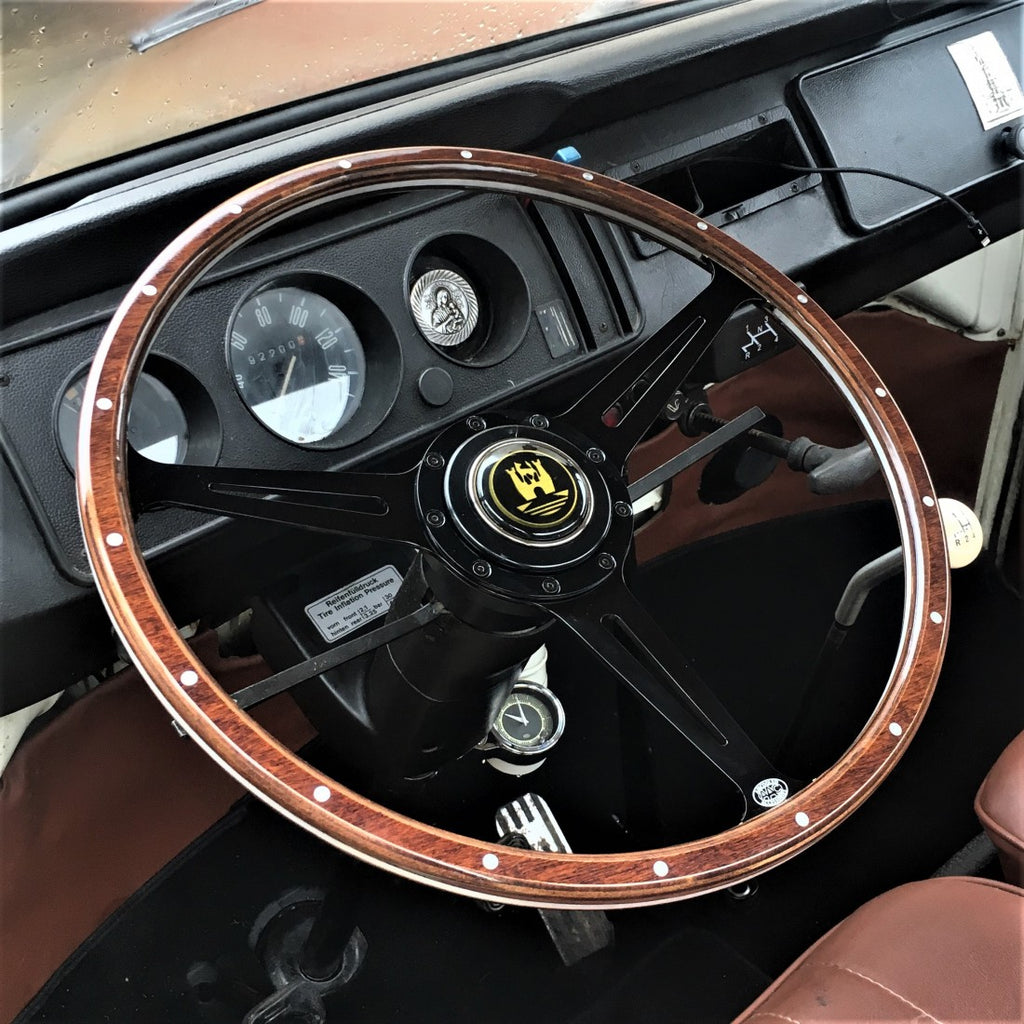 www.aircooledaccessories.com bay window steering wheel black